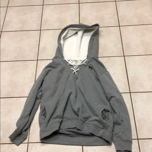 Victoria's Secret, pink: grey hoodie with pockets